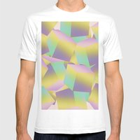 Fade Cubes B2 MEDIUM Mens Fitted Tee White