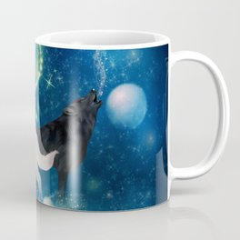 Awesome black and white wolf in the universe Coffee Mug