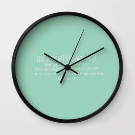 Habakkuk 1:5 x Mint Wall Clock