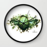 yoda Wall Clocks featuring Yoda by Rene Alberto