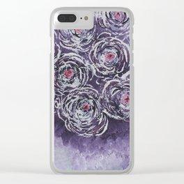 Art-ichoke in purple Clear iPhone Case