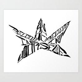 Calligranime: Yourself Art Print