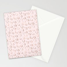 Pink Blush Rose Gold Circles Stationery Cards