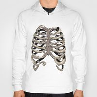 huebucket Hoodies featuring Your Rib is an Octopus by Huebucket