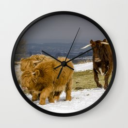 Bully And The Heeelans Wall Clock