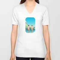rush V-neck T-shirts featuring Rush by Butch McLogic