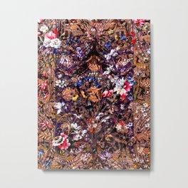 Persian Floral Pattern Metal Print