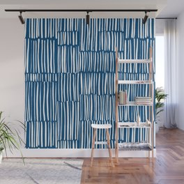Chalk Scratches _ Classic Blue Wall Mural