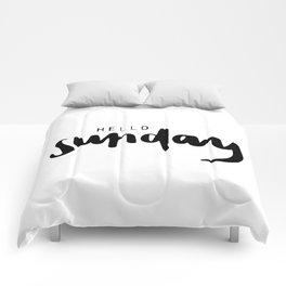 Hello sunday Comforters