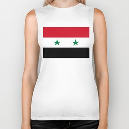 Syrian flag - may PEACE prevail Biker Tank