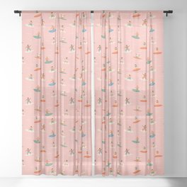Surf kids Sheer Curtain