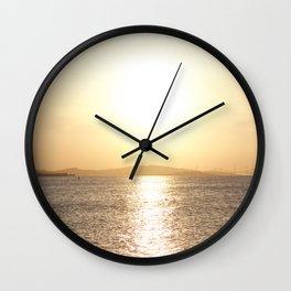 Sunset over Western Harbour Leith Edinburgh Wall Clock