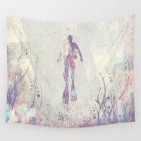 scuba Wall Tapestries featuring Explorers VI by HappyMelvin