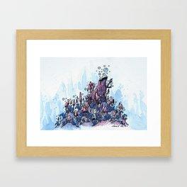 Ninja and the wood Framed Art Print