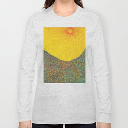 Here Comes the Sun - Van Gogh impressionist abstract Long Sleeve T-shirt