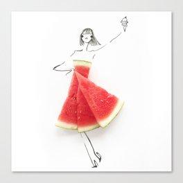 Edible Ensembles: Watermelon Canvas Print
