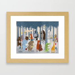 little nature parade Framed Art Print