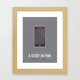 A Study in Pink Framed Art Print