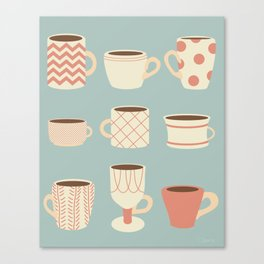 Retro Cups Too Canvas Print