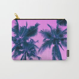 Palm Trees Pink Carry-All Pouch