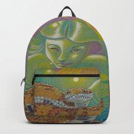 Serpent Goddess, Fantasy Snake Art Backpack