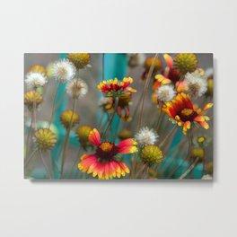 Fiery Flowers Metal Print