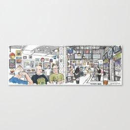 University of Beer, Davis Canvas Print