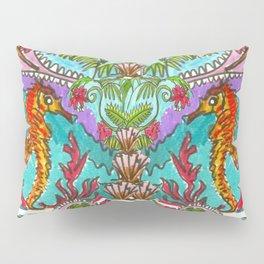 Seahorse Paisley Pillow Sham