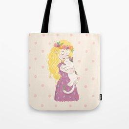 Fairy Cat Mom Tote Bag