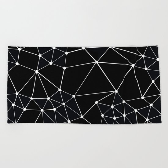 Seg Black Beach Towel