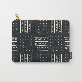 Mud cloth in black and white Carry-All Pouch