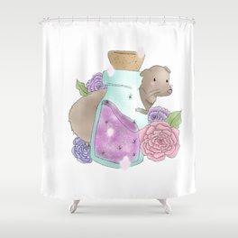 Ferret in a bottle Shower Curtain