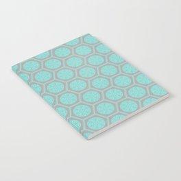 Hexagonal Dreams - Grey & Turquoise Notebook