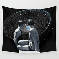 discount Wall Tapestries featuring Check it out by TRASH RIOT