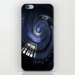 Blue spiral staircase iPhone Skin