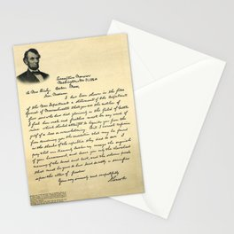 President Lincoln Letter To Mrs. Bixby Stationery Cards