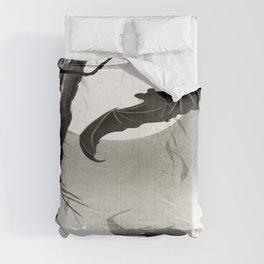 Bats under the full moon by Ohara Koson Comforters