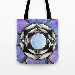 Doodled Gem Bloom Tote Bag