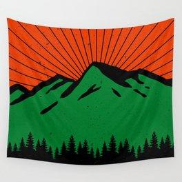 Vintage Zion National Park Utah Mountain Souvenir Retro 60s Wall Tapestry