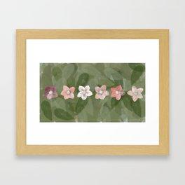 Flower Christmas Rose Framed Art Print