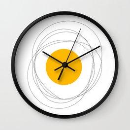 Doodle egg Wall Clock