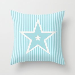The Greatest Star - Turquoise Blue Throw Pillow
