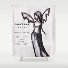 Guardian Angel 1 Shower Curtain