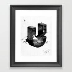 No. 26 Zine - Letter U Framed Art Print