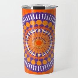 Rough Orange Mandala Travel Mug