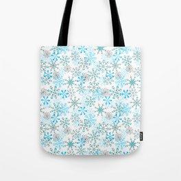 Snowflakes Falling, Christmas and Holiday Collection Tote Bag