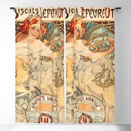 Affiche gaufrettes vanille - Alphonse Mucha 1900-1925 Blackout Curtain