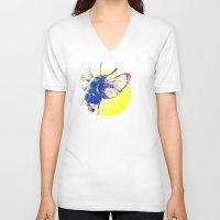 bug V-neck T-shirts featuring bug by Xenia Pirovskikh