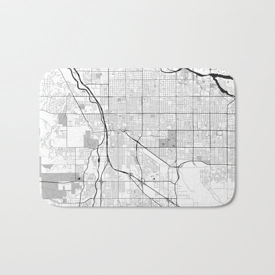 Tucson Map Gray Bath Mat