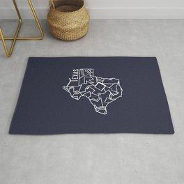 Texas Strong (Dark Blue) Rug